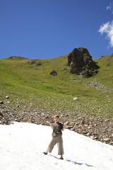Achtjähriger hat Spass im Schneefeld - Fallungscharte