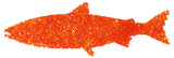 Salmon Caviar fish shape