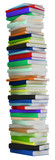 Education and wisdom. Tall heap of hardcovered books poster