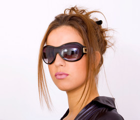 Sexy girl with sunglasses