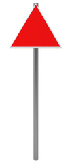 Triangle Red Traffic Sign isolated on white