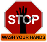 Hand Washing Sign poster