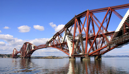 Forth rail bridge in Queensferry, Scotland