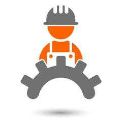 handwerk bau arbeiter zeichen symbol