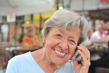 Senior Woman and Her Mobile Phone