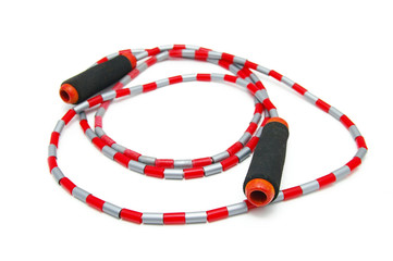 sport jump-rope isolated on white background