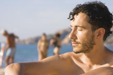 Young man - Beach, Sardinia, Italy