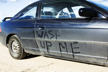 The dirty automobile