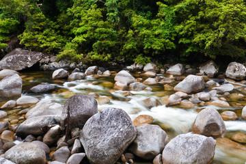 Flowing Stream Over Rocks