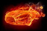 Hot sports car
