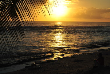Coucher soleil - Polynésie