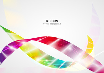 Ribbon vector background