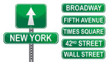 New York Street signs
