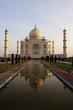 Taj Mahal reflection in the pond.