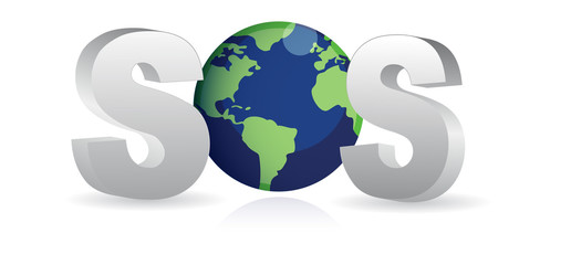 SOS - Save the Earth / Vector