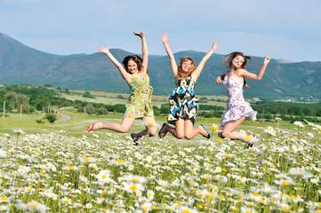 jump in field