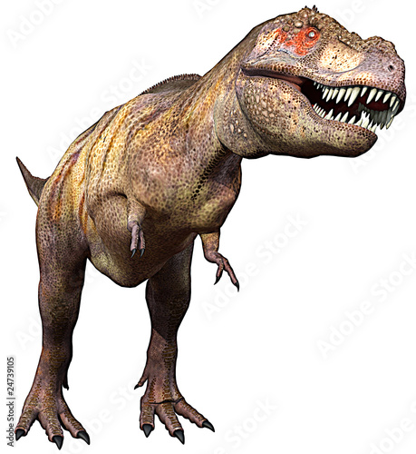 tyrannosaurus side up