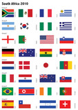 Country soccer flags