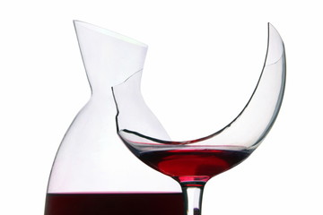 Weinglas mit Karaffe