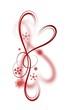 rotes Herzdesign