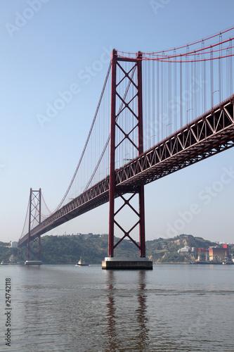 The 25 de Abril Bridge in Lisbon, Portugal © philipus