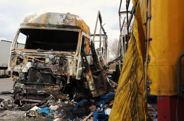 Lastwagen Brandschaden