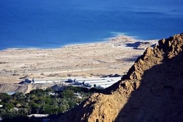 Dead sea view from the nearby mountains