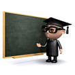 3d Graduate uses the blackboard