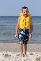 child with life jacket