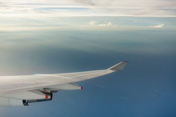 clouds and sea view from airplane