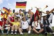 Fanjubel, deutsche Fans, feiernd