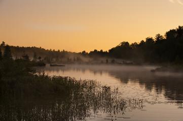 Mist and Fog on the Lake