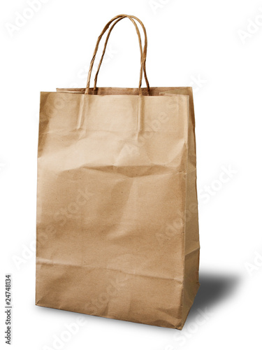 Front Brown Crumpled peper bag