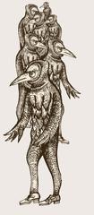 Bird headed characters