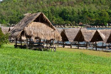 Huts at the lake, Huay Tung Tao in Chiangmai Province, Northern