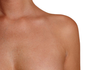 Linke Schulter einer Frau
