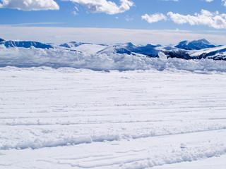Winterlandschaft, Alpenpanorama, Österreich