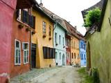 Fototapety Sighisoara medieval street, Transylvania in Romania