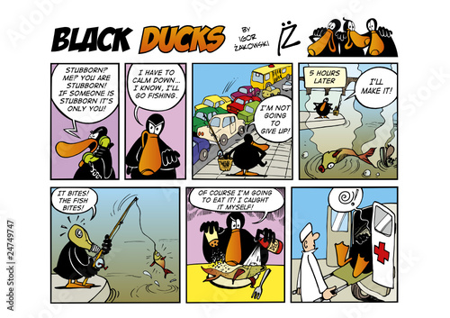 Keuken foto achterwand Comics Black Ducks Comic Strip episode 48