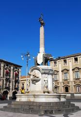 The fountain Elephant, Catania symbol in Sicily