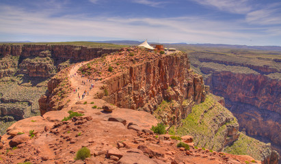 Guano Point at Grand Canyon's west rim tourist destination