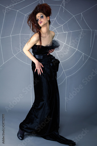 spider girl and web