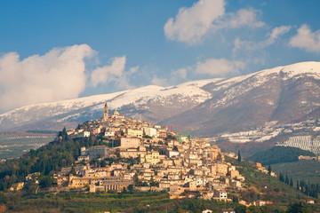 Vista di Trevi, Umbria - Italy
