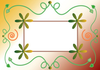 Floral bacground, frame for your text, vector