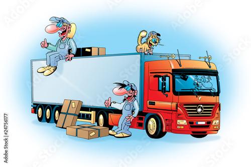 Fototapeten,lastkraftwagen,lastentransport,handwerk,nutzer