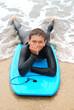 Smiling Teenage Surfer