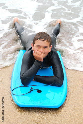 Smiling Teenage Surfer