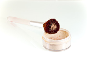 stylish makeup brush in cosmetic pouder
