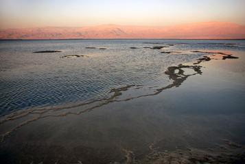 Dead sea at sunset