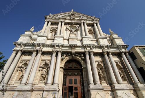 Foto op Aluminium Venice Scalzi Church (Chiesa degli Scalzi) in Venice